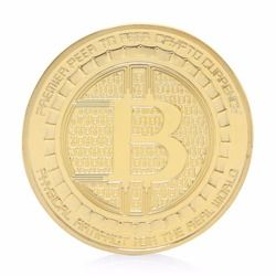 2017 Gold Plated Anonymous Mint Bitcoin Commemorative Coins Collection Souvenir Gift
