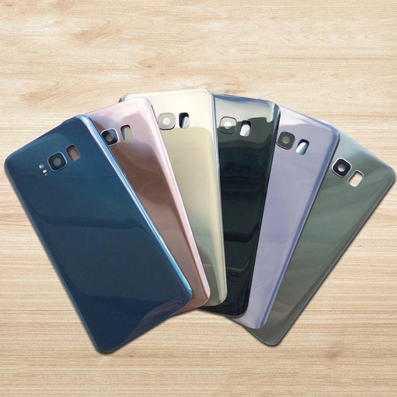 Für SAMSUNG Galaxy S8 G950 G950f S8 + S8 Plus G955 Zurück Batterieabdeckung Tür Hinteren Gehäusekasten Ersetzen + rückfahrkamera Glas Linse Rahmen