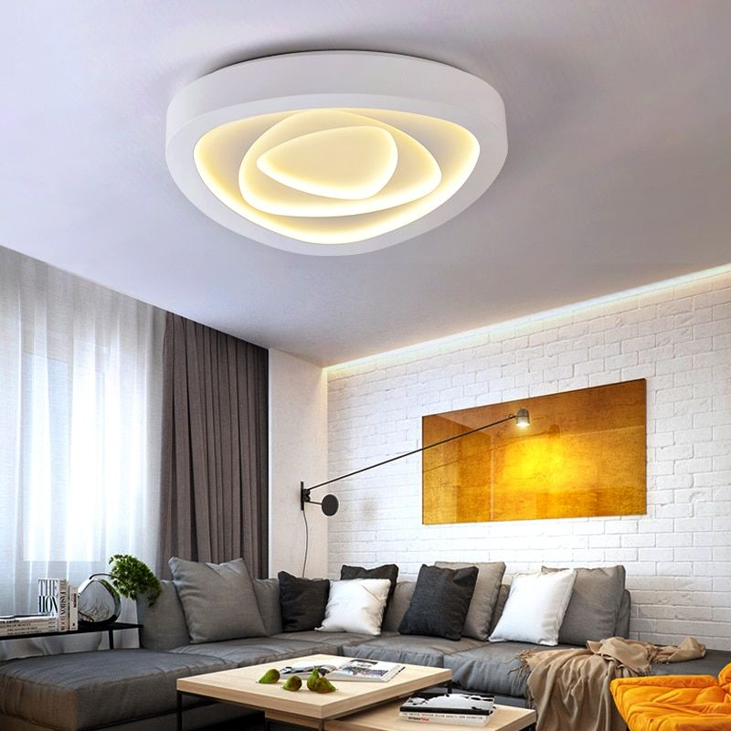 Romantic Rose LED Ceiling Lights Creative Master Bedroom Living Room Wedding Room Hotel LED Ceiling lamps ZA