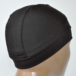 5 Pcs/lot Noir Spandex Dome Caps Snood Nylon Stretch Perruque Caps Pour La Fabrication de Perruques Sans Colle Élastique Cap Moyenne Taille