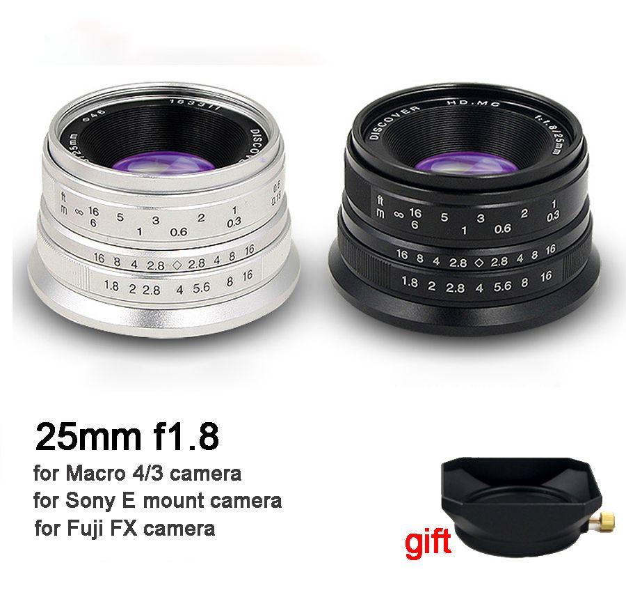 25mm F/1.8 HD MC Manual Focus Prime Lens for Sony E Mount A6500 A7 A7RII A7III/ Micro 4/3 Cameras GH4 GH5 E-PL7/ Fuji X-T2 X-A2