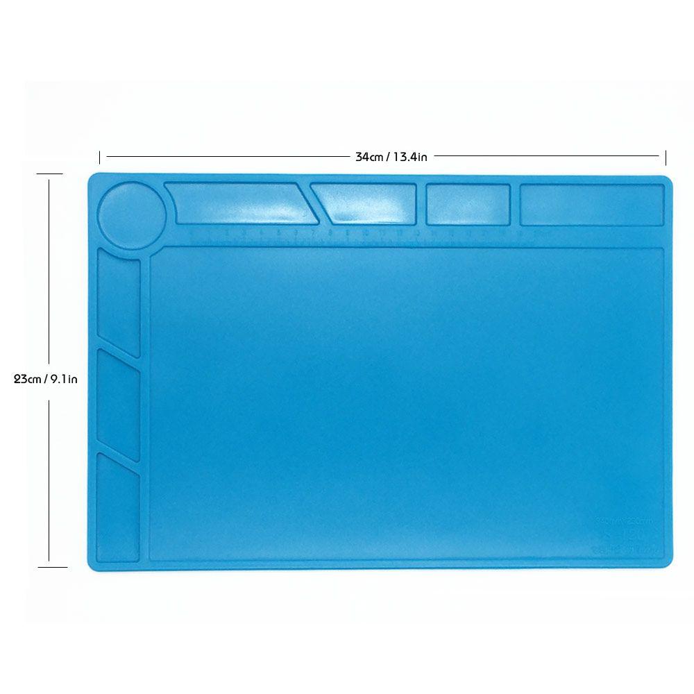 34x23 cm avec 20 cm Échelle Règle Isolation thermique Silicone Pad Tapis de Bureau Plate-Forme de Maintenance BGA À Souder Réparation Station