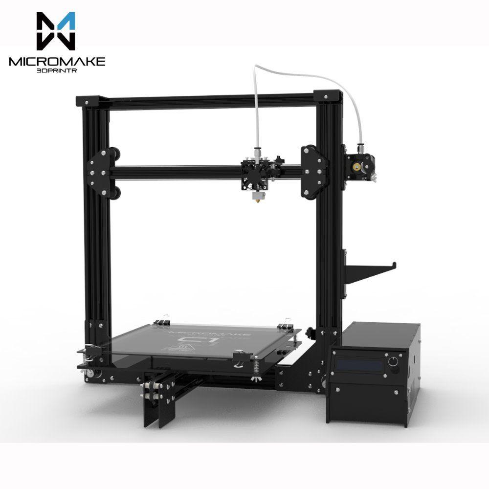 2017 Micromake 3d-drucker Große Druck Größe 245*245*260mm Micromake C1 Blech/Arcylic H-botXZ Struktur DIY Kit