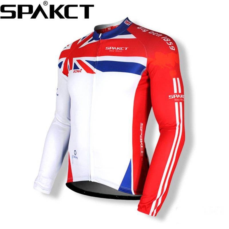 SPAKCT Cycling Long Sleeves Long Jersey-Big Ben Breathable Quick Dry Ropa Ciclista Ciclismo Sports cycling clothing jersey
