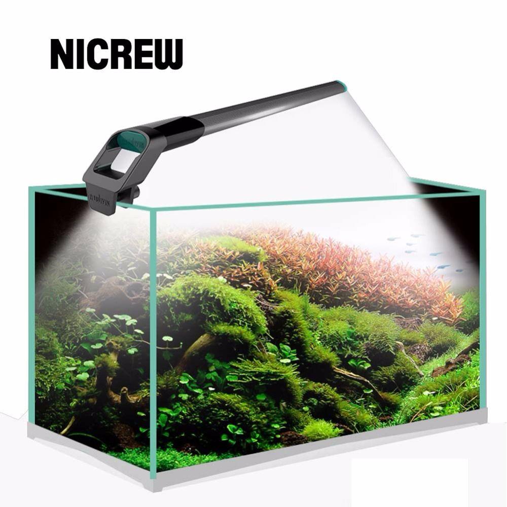 Nicrew JIYIN Fish tank lights SMD 220v/50-60HZ Aquarium LED Lighting Led Aquarium Lamp Light Lamp 1.1cm Waterproof Diving lights
