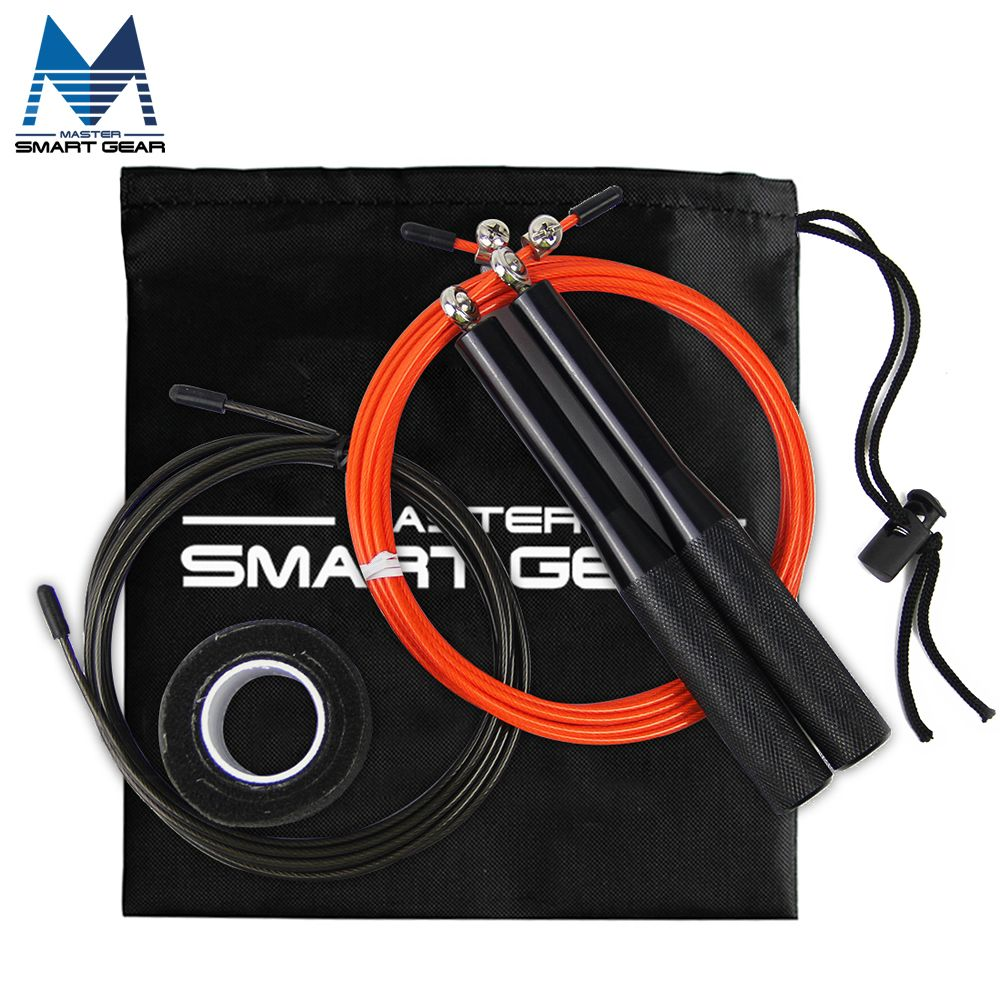 Speed <font><b>Rope</b></font> MMA Box Home Gym For Children, Ultra Speed Jump <font><b>Rope</b></font> Metal Bearing Sports Skipping <font><b>Rope</b></font> with Spare <font><b>Rope</b></font>