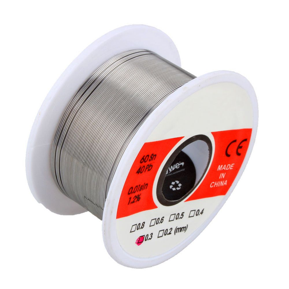 1 Pcs 50g Tin Lead Rosin Core Solder Soldering Wire 60/40 For SMD Welding Rework Repair 0.3mm 0.4mm 0.5mm 0.6mm