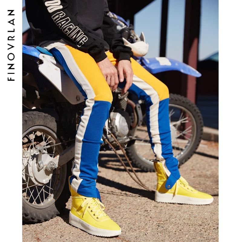 Fear Of God Sweatpants 2018 New Justin Bieber Men Women Streetwear Fear Of God Pants Drawstring Zip Joggers Fear Of God Sweatpan