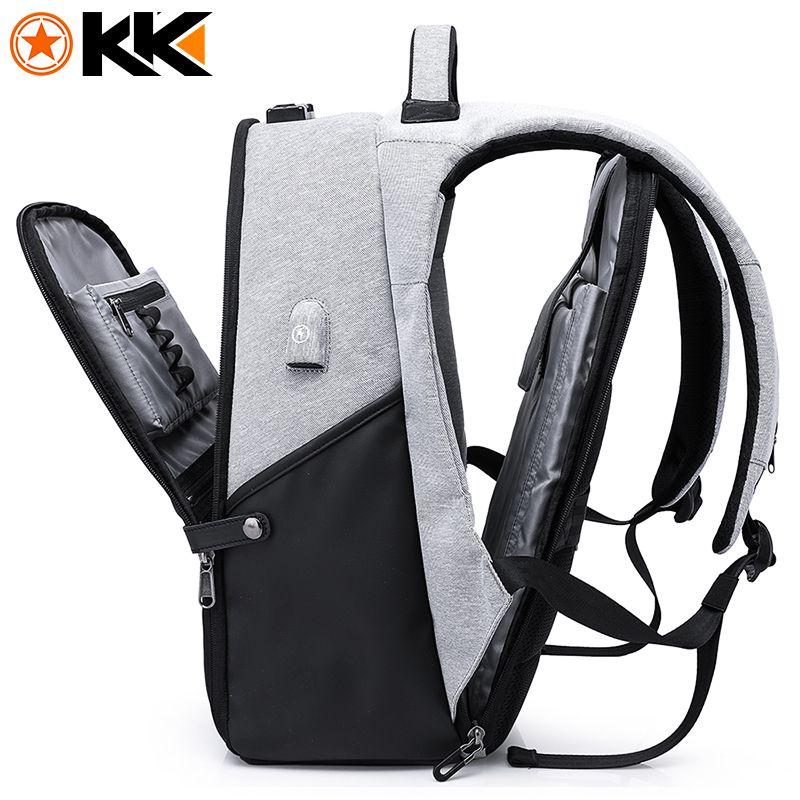 KAKA Fashion Travel Men Backpack for Laptop Bag 15.6 USB Recharging Large Capacity <font><b>Anti</b></font> theft Schoolbag Backpack Male Mochila