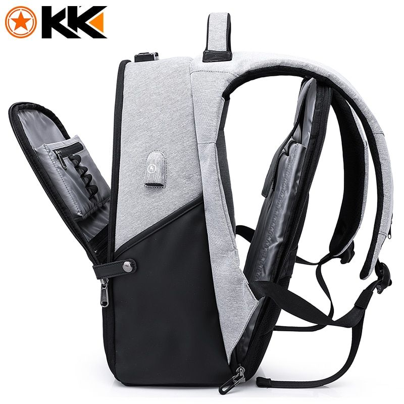KAKA Fashion Travel Men Backpack for Laptop Bag 15.6 USB Recharging Large <font><b>Capacity</b></font> Anti theft Schoolbag Backpack Male Mochila