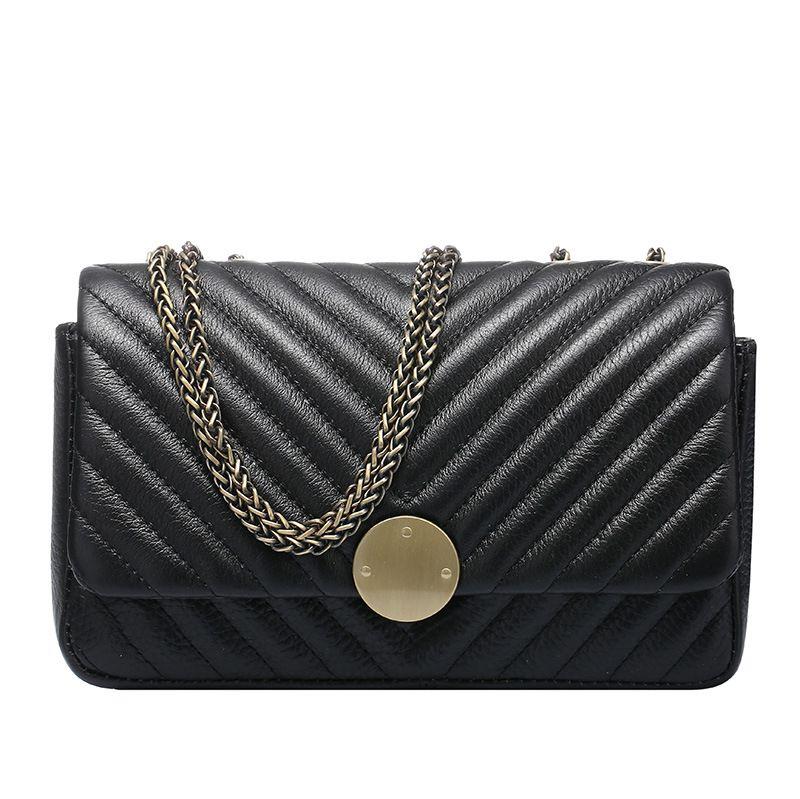 2017 American Style Flap handbag Real Cow Leather Star Fashion Clutch Purses Handbags women Shoulder Bags