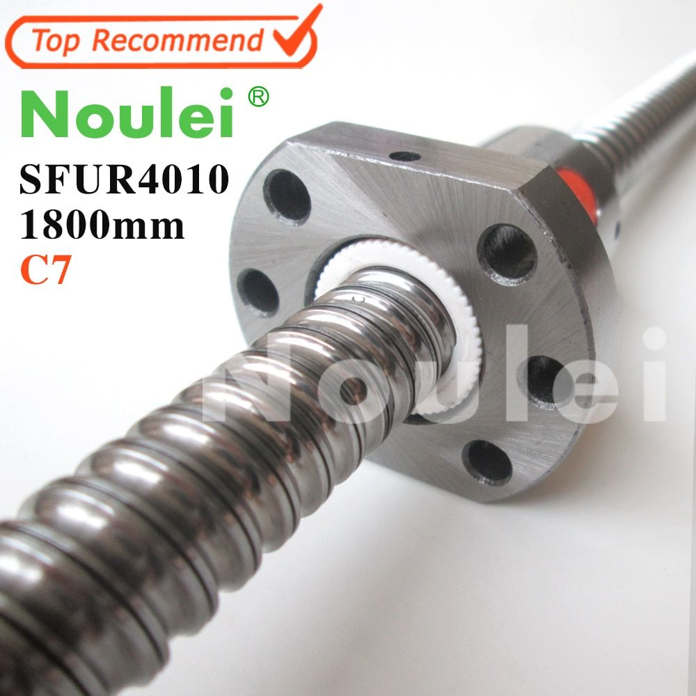 Noulei 4010 C7 1800mm ball screw 10mm lead with SFU4010 ballnut of SFU set end machined for high precision CNC diy kit