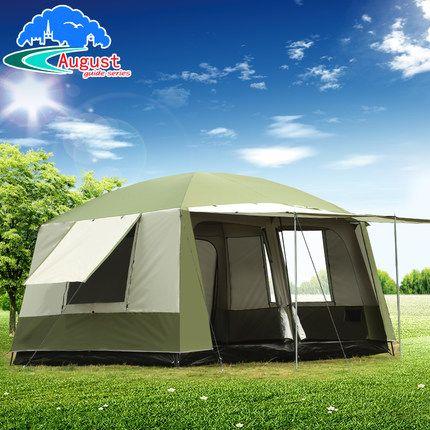 Ultra 6 10 12 doppel schicht im 2 wohnzimmer und 1 halle familie camping zelt anti big regen mit verdicken stoff mehrere