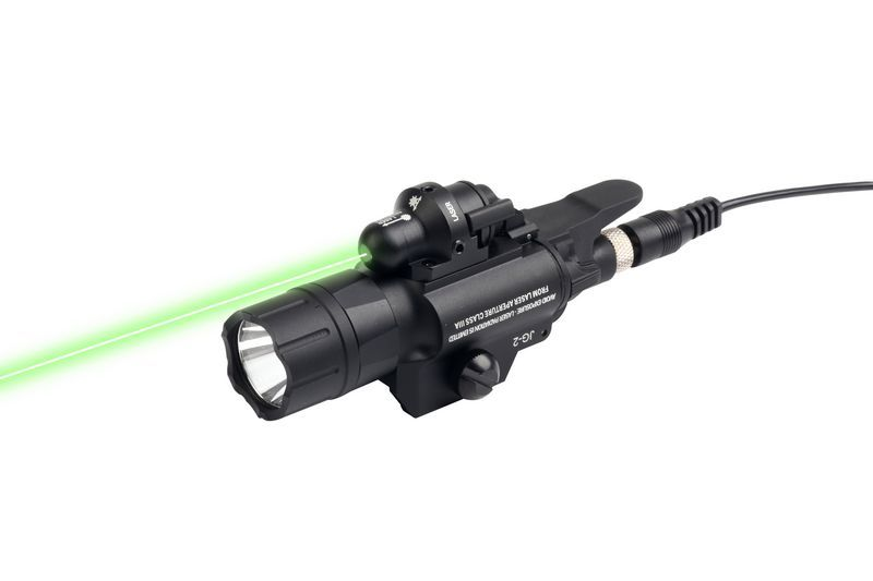 Hunting 500 Lumens Weapon Light Tactical LED Flashlight With Green Laser Sight for Picatinny Rail For Airsoft