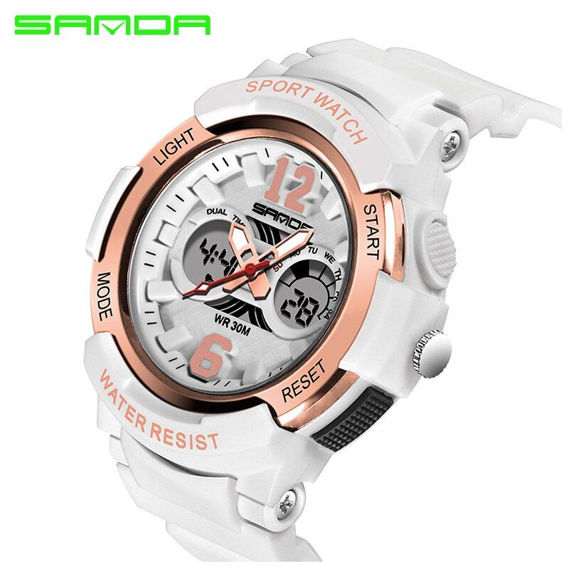 SANDA Brand 2018 Electronic Sport Watch Women Watches Ladies Led Digital Wristwatch Female Clock Montre Femme Relogio <font><b>Feminino</b></font>