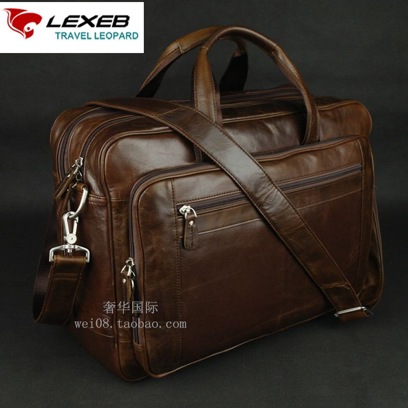 LEXEB Leather Business Briefcases For Men, Attached 17