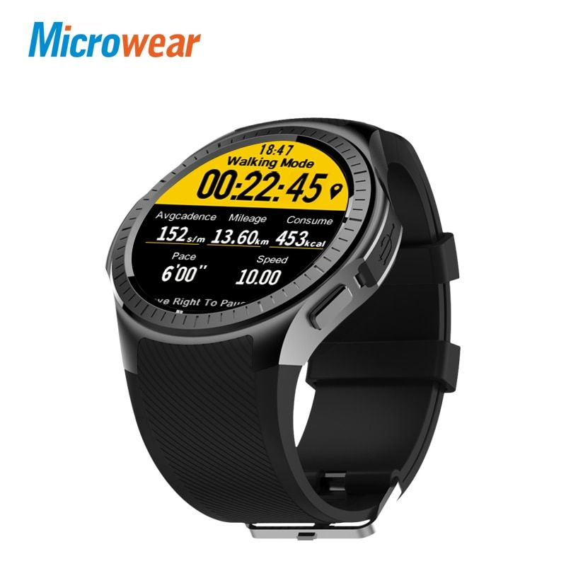 Microwear L1 <font><b>Professional</b></font> Sports Smart Watch Quad Core Smartwatch MTK2503 2G Wifi BT Call 0.2MP TF Card For Android IOS