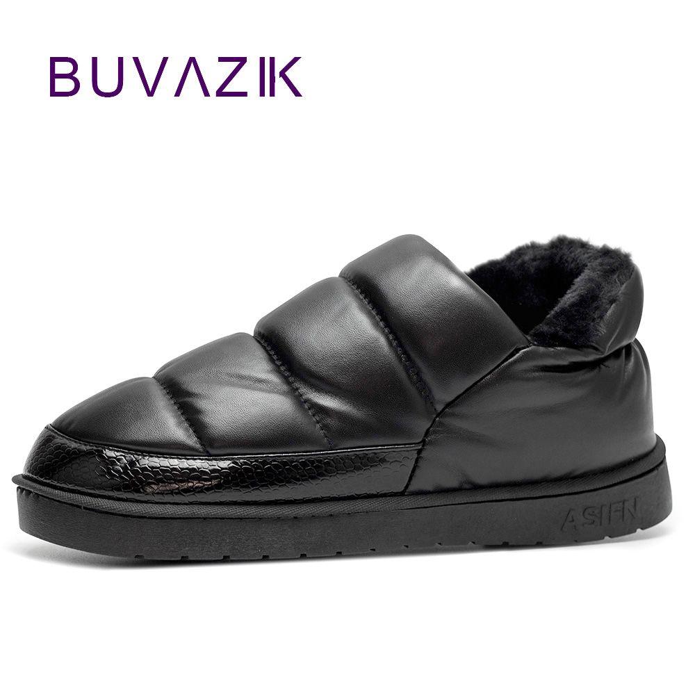 Nouveauté imperméable à l'eau femmes PU cuir bottes de neige chaud court en peluche bottine femme chaussures d'hiver femme grande taille 41 45