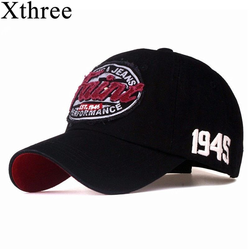 Xthree new Letter embroidery baseball cap men cotton casual cap snapback hat for women casquette  gorras