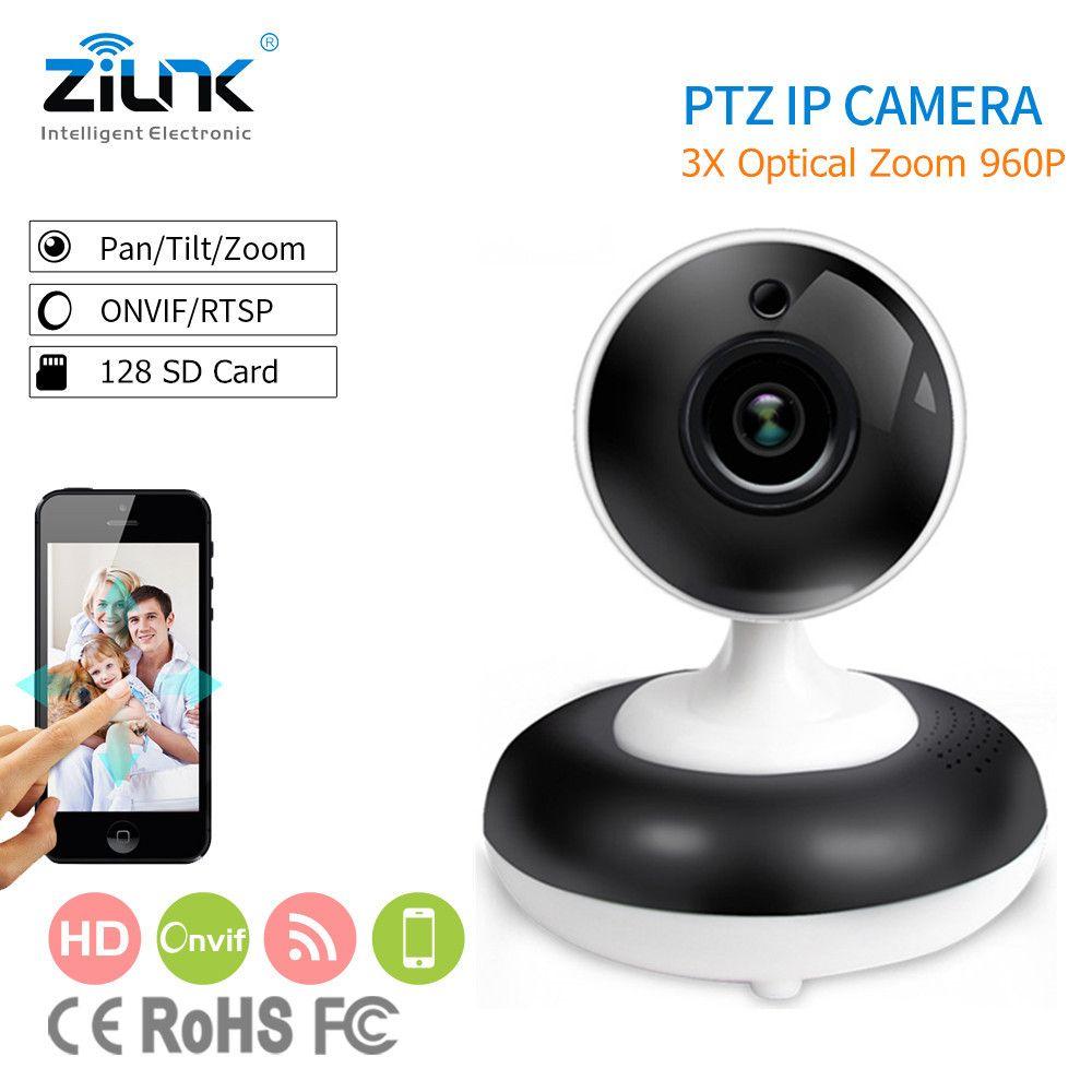 ZILNK 3X Optique Numérique Zoom PTZ IP Caméra HD 960 P Soutien ONVIF Réseau Intérieure Sans Fil Wifi Baby Monitor Home sécurité