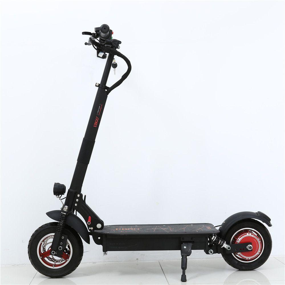 2018 NEUE UBGO 1003 Einzigen Treiber 10 zoll Faltbare Elektrische Scootor mit 1000 watt Turbine Motor