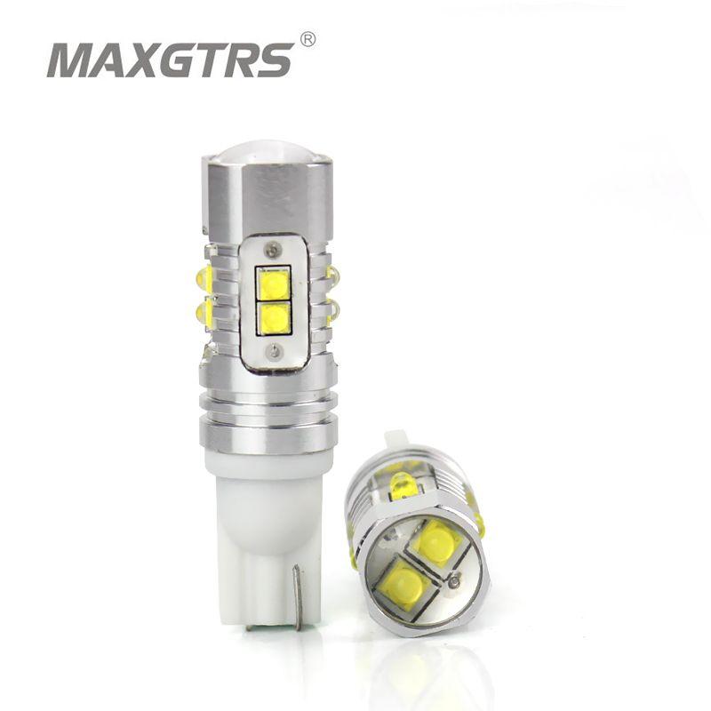 2x T10 194 168 920 912 921 haute puissance 25 W 50 W extrême lumineux CREE puce XB-D ampoule LED pour les feux de recul de stationnement de voiture