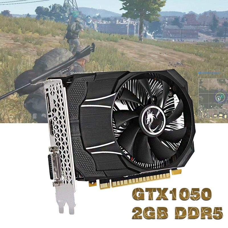LEORY GTX1050 Mini OC 2G GDDR5 128Bit 1354-1455MHz 7Gbps PCI-E 3.0 Gaming Video Graphics Card