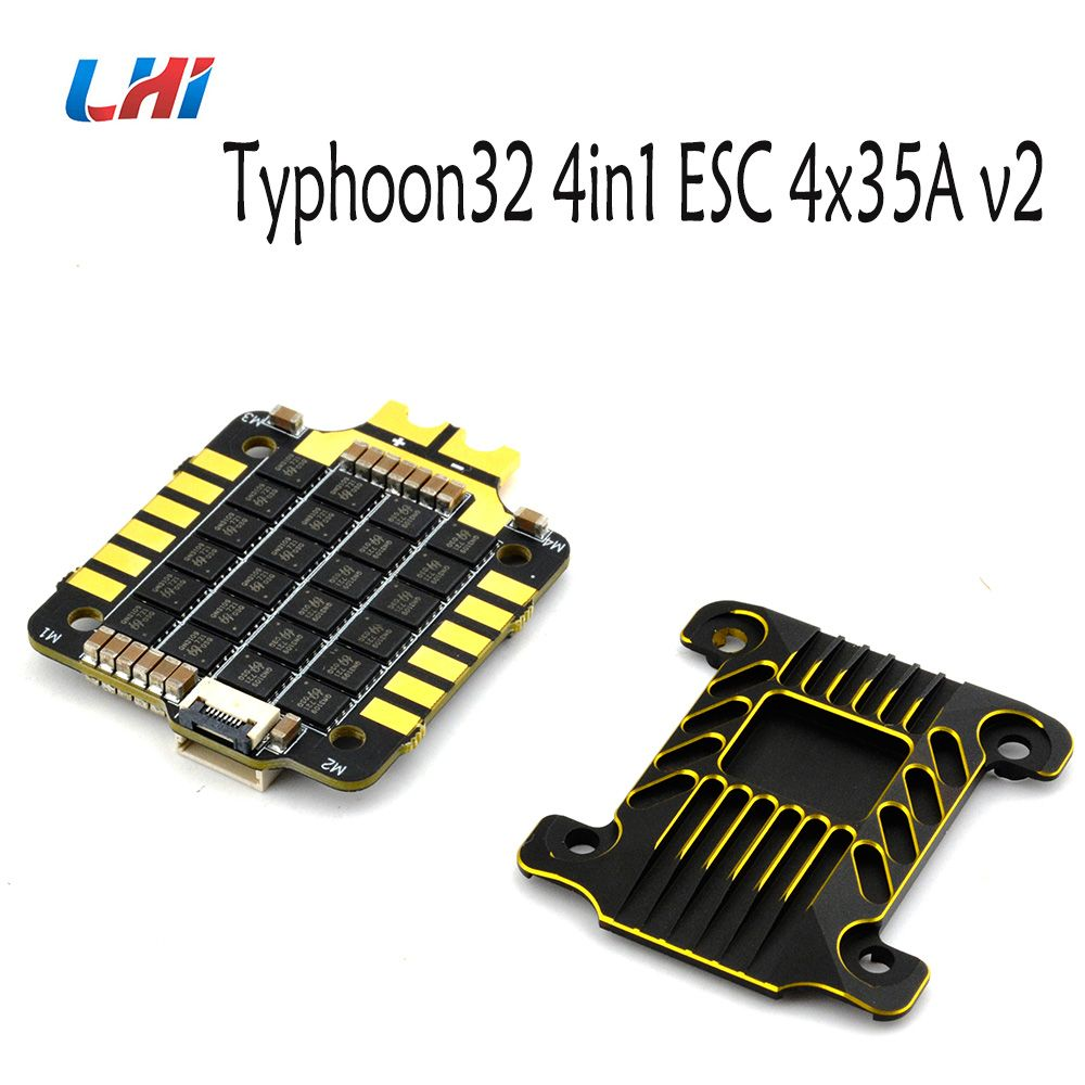 Typhoon32 4in1 ESC 4x35A ESC with 30.5x30.5 mm Mounting holes supports DSHOT 1200 BLHELI32 firmware for quadcopter