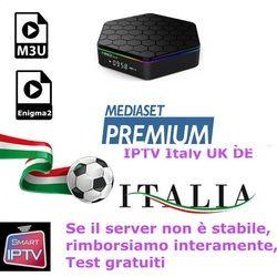 IPTV M3U Subscription For Iptv Italy UK Germany French Spanish Belgium Mediaset Premium For M3u Enigma2 Smart TV PC Android