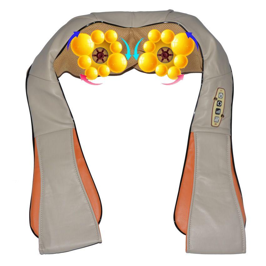 Amkee Maison De Voiture Électrique Body Massager Relaxation Massage U Forme Cou Dos Épaules Shiatsu Infrarouge 3D Pétrissage Massager