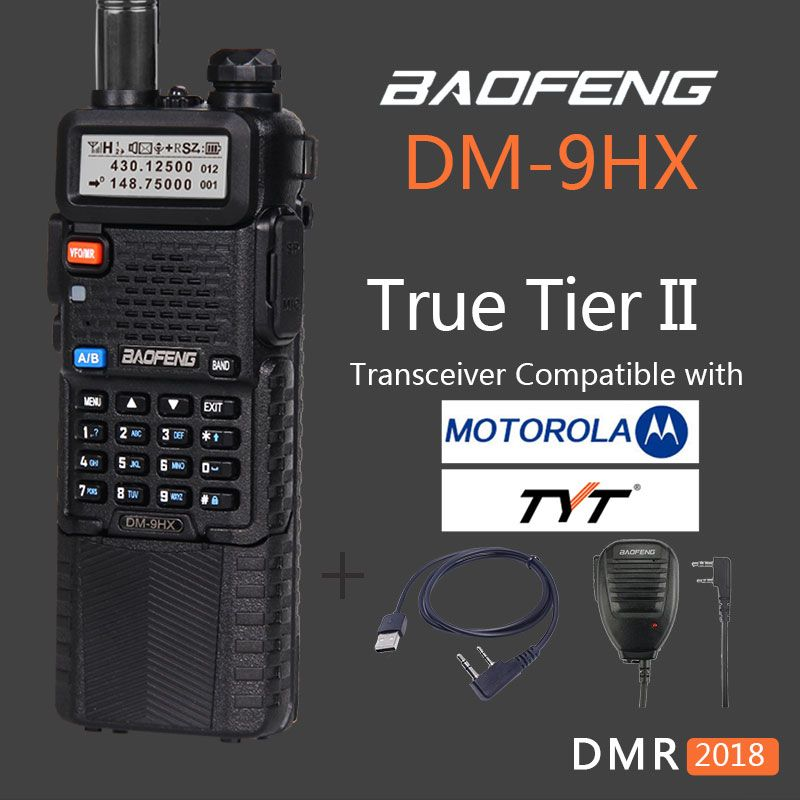 Woki Toki Baofeng uv-5r Tier II digital DMR radio DM-9HX vhf uhf two way radio walkie talkie sister baofeng uv-82 10