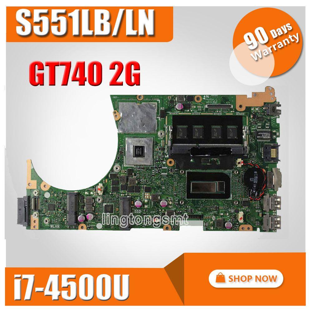 For ASUS K551L K551LB K551LD K551LN S551L S551LB S551LD S551LN Motherboard i7-4500u REV2.2 Mainboard GT740 2G 100% Tested