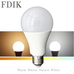 Lampu LED E27 110 V 220 V Kecerahan Tinggi Konvensional Lampu LED 5 W 7 W 9 W 12 W 15 W 18 W Lampu Tidur Ruang Tamu Lampu Alam Putih