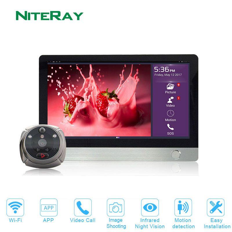 2018 New Arrival Two Way Intercom WIFI Peephole Doorbell Viewer iHome4 Smart IR Night Vision Doorbell System