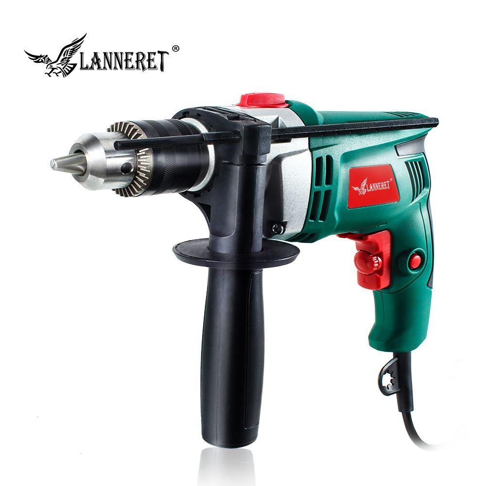 LANNERET 710 W perceuse électrique Marteau Perforateur Perceuse à Percussion Multi-fonction Réglable Vitesse Woodworking Power Tool