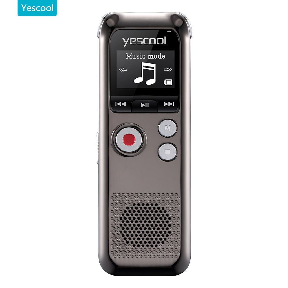Yescool A60 professional Dictaphone  espia mini voice recorder registrador grabadora de voz support MP3 player audio recorder
