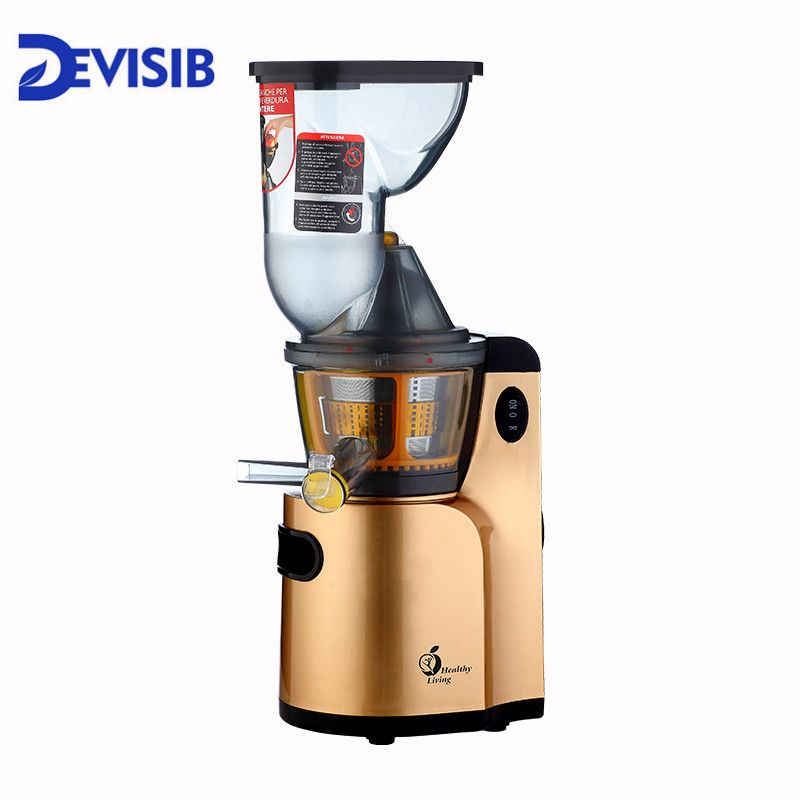 DEVISIB Juicer Slow Masticating Juicer Extractor, Cold Press Juicer Machine, Quiet Motor and Reverse Function