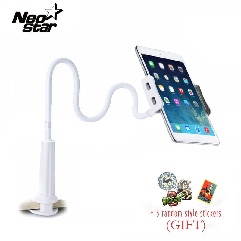 Support de tablette Flexible pour iPad Mini Air Kindle Samsung téléphone pour Iphone 3.5-10.5 pouces paresseux lit tablette PC se tient pliable
