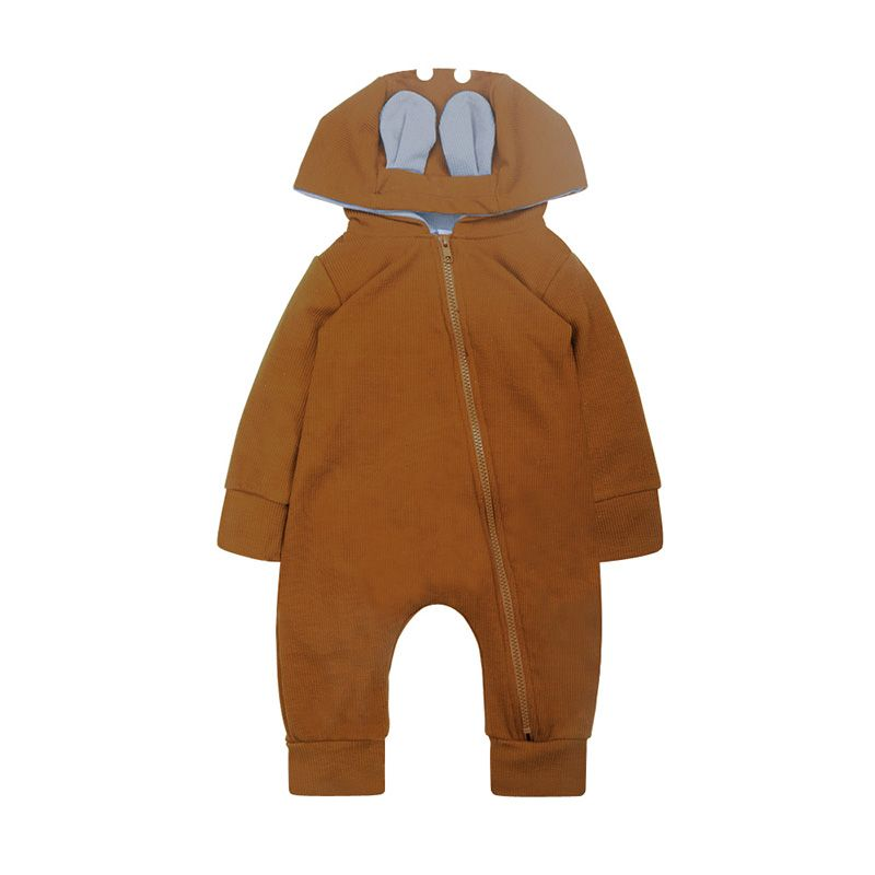 Newborn Romper Zipper 2018 Tiny Cottons Autumn Long Sleeve Girl Boy Clothes Cute Winter Hooded Jumpsuit Baby Onesie Animals