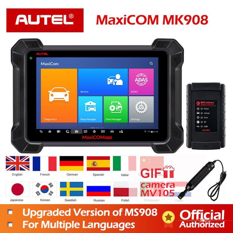 Autel Diagnose Werkzeug MaxiSys MS908 MaxiCOM MK908 OBD2 Scanner besser als MaxiSys Pro Elite Neue ankunft nach MS908 ECU Codierung