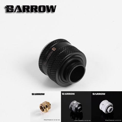 Barrow Negro Blanco Plata Oro OD14mm Duro tubo de montaje de mano accesorio de compresión G1/4 ''OD14mm TYKN-K1410 tubo duro V4