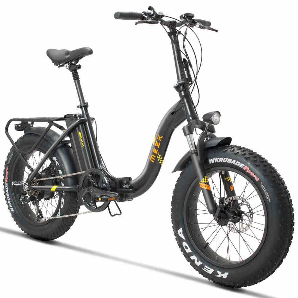 20inch electric bicycle Fat snow ebike 4.0 tires Beach electric bicycle 48V 500w fold  electric snow bike Off-road wide tire