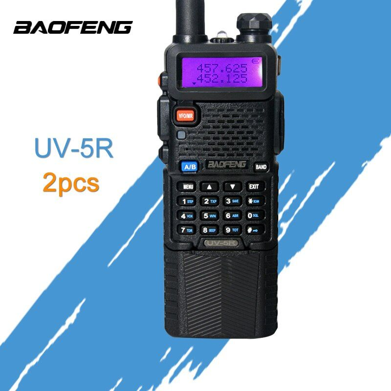 2PCS Baofeng UV-5R 3800mAh Walkie Talkie 5W Dual Band Portable Radio UHF 400-520MHz VHF 136-174MHz UV 5R Two Way Radio portable