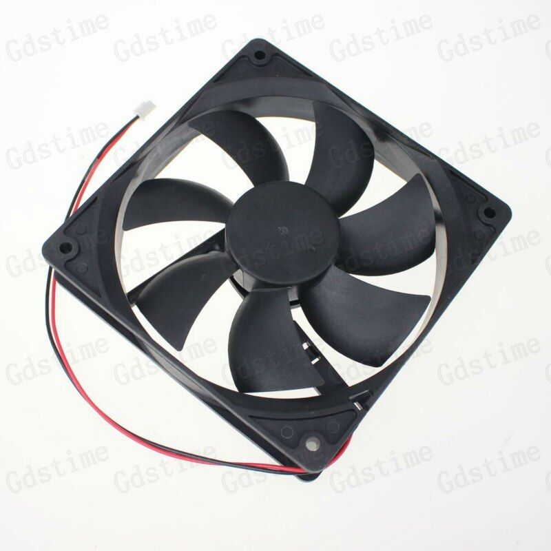 5 pieces/Lot Gdstime 12V 2-Wire 12CM 120mm 5 inches Hydraulic Bearing DC Brushless Cooling Fan