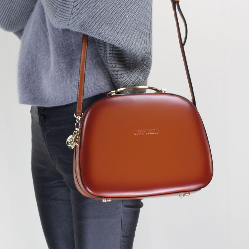 Shell Handbag 2018 Ladies Fashion Messenger Bag Handmade Genuine Leather Shoulder Sling Bag Cow Leather Elegant Office Handbag
