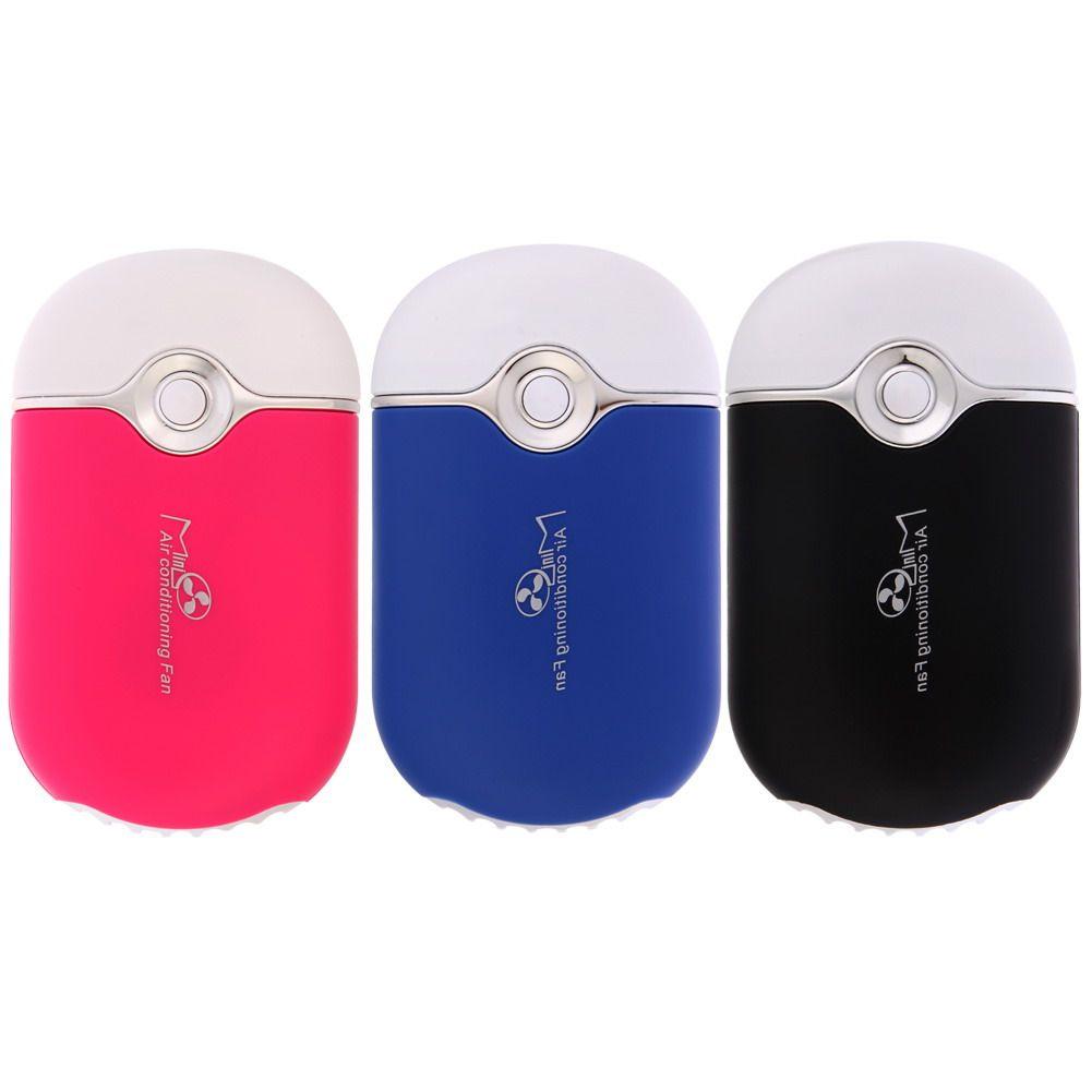 Hand held USB Gadgets Air Conditionné Ventilateur USB Rechargeable Mini Ventilateur Batterie Au Lithium Portable Ventilateur De Refroidissement