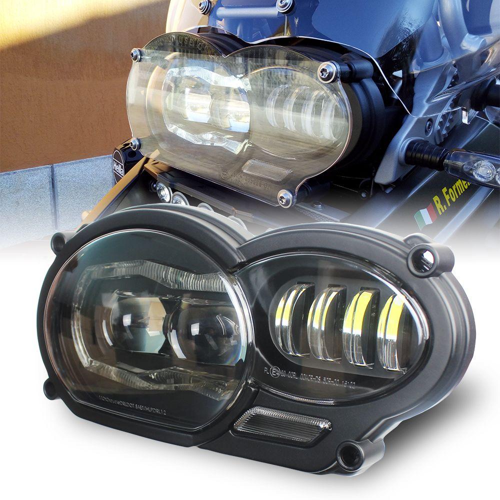 Motos Zubehör LED Scheinwerfer Montage mit DRL Ursprüngliche Komplette für BMW R 1200 GS 2008 2009 2010 2011