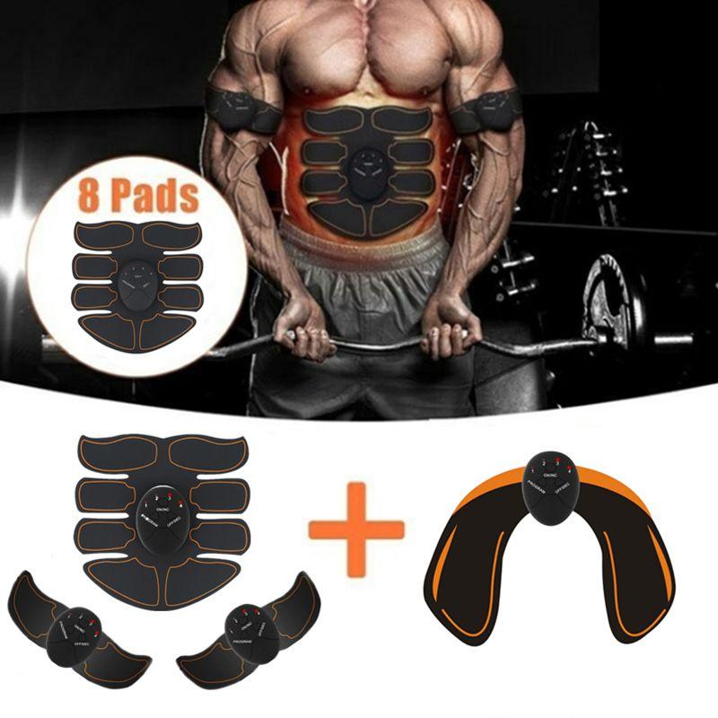 Stimulateur musculaire électrique intelligent à 6 modes abdominaux ABS ems entraîneur de hanche fitness fesses Shaper perte de poids Massage minceur