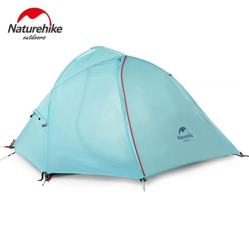 Naturehike Silikon 1-2 Personen Doppelschichten Zelt NH Außen Einem Schlafzimmer Camping Zelt Mit Matte 2 Farben 3 jahreszeiten