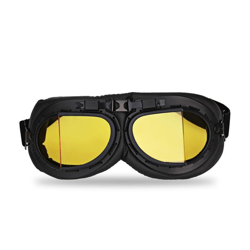 Ясно мотокросс шлем Пилот очки мотоцикл Jet Авиатор Ретро Винтаж Второй мировой войны Пилот очки скутер Очки для Harley Байкер